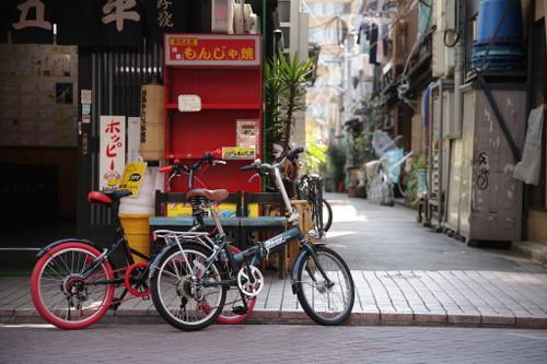 ⑩自転車と路地裏